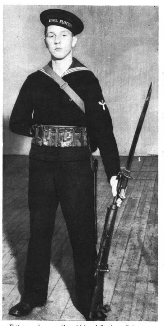 Swedish marine with modified m/1867 bayonet